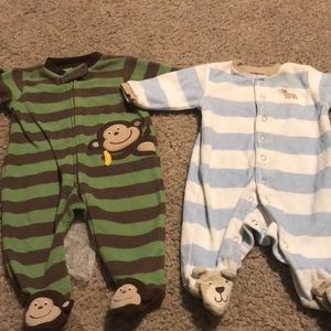 Two carters 3 month warm pajamas